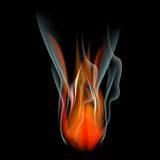 Burn flame fire  abstract background Stock Image