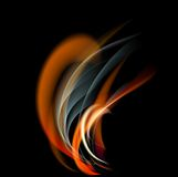 Burn flame fire  abstract background Royalty Free Stock Photo