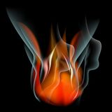 Burn flame fire  abstract background. Burn flame fire abstract background. Vector. EPS10 Royalty Free Stock Images