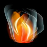 Burn flame fire  abstract background Royalty Free Stock Photography