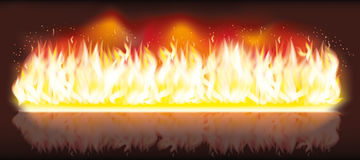 Burn flame fire banner Royalty Free Stock Images