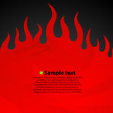 Burn flame fire dark background. Vector illustration Stock Photos