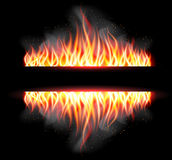 Burn flame fire vector background Stock Image