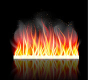 Burn flame fire vector background. Vector illustration Royalty Free Stock Photo