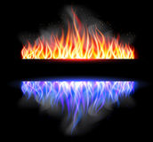 Burn flame fire vector background. Vector illustration Stock Photos