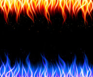 Burn flame fire vector background. Vector illustration Stock Image