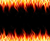 Burn flame fire vector background. Vector illustration Royalty Free Stock Image