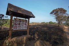 Burn grassland Stock Photography