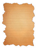 Burn grunge brown paper isolated Stock Photography