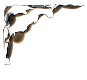Burn hole. Abstract illustration of burn hole on a paper stock images