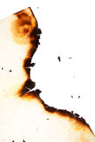 Burn hole in  paper Stock Photography