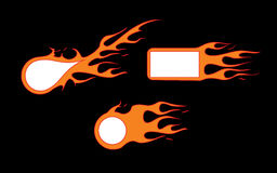 Burn-icons. Vector burning frame for your text Royalty Free Stock Photo