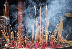 Burn incense Stock Image