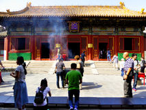 Burn incense and pray Royalty Free Stock Photos
