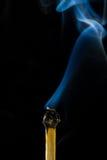 Burn match with smoke Royalty Free Stock Photos