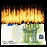 Burn Money, Burn Geldschein Royalty Free Stock Images