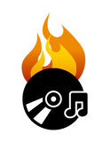 Burn music Royalty Free Stock Photos