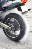 Burn out 3. Tyre warm-up royalty free stock photo