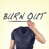 Burn-out photo stock