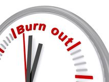 Burn out clock Stock Photo