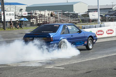 Burn-out de mustang photographie stock
