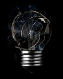 Burn out light bulb. With smoke Royalty Free Stock Photos