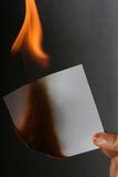 Burn paper Royalty Free Stock Image