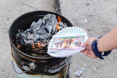 Burn paper Culture Royalty Free Stock Photos