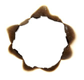 Burn paper frame background Royalty Free Stock Photography
