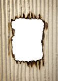 Burn paper frame background Royalty Free Stock Photo