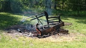 Burn pile Royalty Free Stock Photos