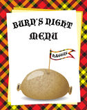 Burn's Night menu Stock Image