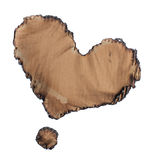 Burn torn cardboard heart and dot Royalty Free Stock Photo