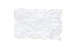 Burn wrinkle. Burn wrinle white paper on white background Stock Photo
