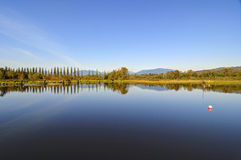 Burnaby湖全景  免版税库存图片
