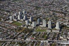 Burnaby aérien, BC, le Canada Photographie stock libre de droits