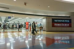 Burnaby, CANADA - September 20, 2018: interior view of Metropolis at Metrotown shopping mall stock photography