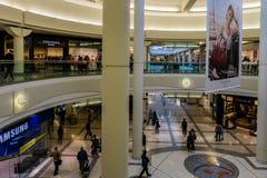 Burnaby, CANADA - September 20, 2018: interior view of Metropolis at Metrotown shopping mall stock image