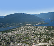 Burnaby and Deep Cove. Metro Vancouver - Belcarra, Coast Mountains, Burnaby, deep Cove and North Vancouver Royalty Free Stock Photography