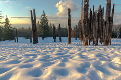 Burnaby montaña tótem Vancouver enero de 2017 Fotos de archivo libres de regalías