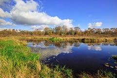 Burnaby sjö i höst Royaltyfria Foton
