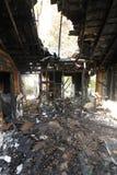 Burned and abandoned house Royalty Free Stock Photo