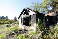 Burned and abandoned house Royalty Free Stock Photos