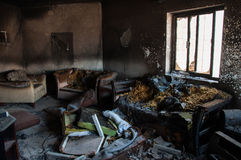 Burned Appartment in Al Khobar, Saudi Arabia.  Royalty Free Stock Photo