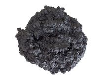 Burned biscuit - black charcoal, home baking fail, failure. Forgotten in oven. Isolated on white. stock images