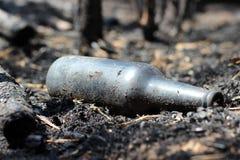 Burned bottle stock photography