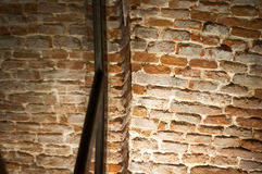 Burned brick wall stock photography