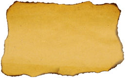 Burned Brown Paper stock image