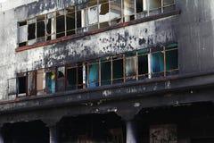 Burned building, Uruapan Stock Photography
