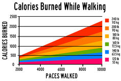 Burned calories Stock Image